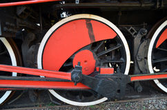Wheels of and old steam train royalty free stock photo