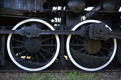 Wheels of and old steam train Stock Photography