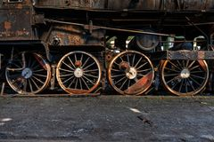 Wheels of an old train Stock Image