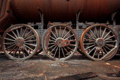 Wheels of an old train Stock Photography