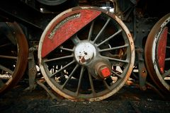 Wheels of an old train Stock Images