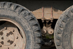 Wheels of old truck Stock Photography