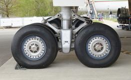 Wheels On The Ground, Concorde, Brooklands, Uk Stock Image