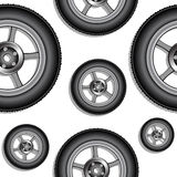 Wheels pattern Royalty Free Stock Photos