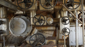 Wheels and pile of equipments Stock Images