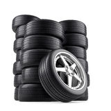 Wheels pile Royalty Free Stock Image
