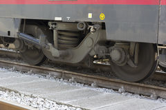 Wheels on the rails Stock Image