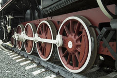 Wheels of Retro Train Royalty Free Stock Photography