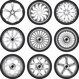 Wheels with rubber Royalty Free Stock Image
