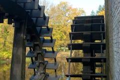 Wheels of a sawmill Stock Photos