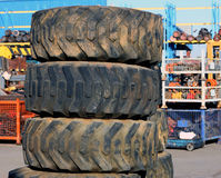 Wheels in the scrapyard Stock Image
