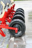 Wheels seeding system. Royalty Free Stock Photo