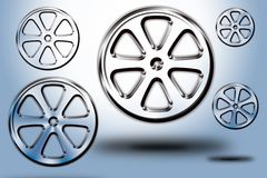 Wheels #04. Set of modern wheel in different sizes and shapes Stock Images