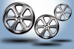 Wheels #03. Set of modern wheel in different sizes and shapes Royalty Free Stock Image
