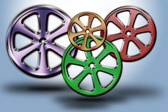 Wheels #01. Set of modern wheel in different sizes and shapes Stock Images