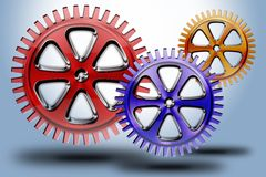 Wheels #02. Set of modern wheel in different sizes and shapes Royalty Free Illustration