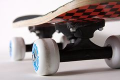 Wheels of Skateboard Under View royalty free stock photos