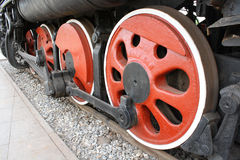 Wheels of steam engine Stock Photo