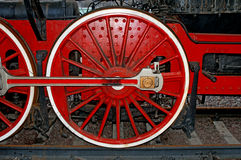 Wheels of steam locomotive Royalty Free Stock Photo