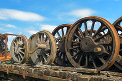 Wheels from steam locomotive Royalty Free Stock Image