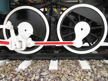 Wheels of a steam locomotive Royalty Free Stock Photography