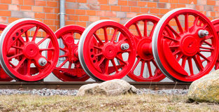 Wheels of a steam locomotive Stock Photography