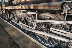 Wheels of a steam train Royalty Free Stock Images