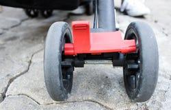 Wheel for baby stroller royalty free stock photos