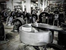 Wheels. Surplus wheels and castors on a shelf Royalty Free Stock Photo