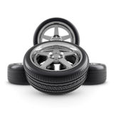 Wheels composition on white Royalty Free Stock Image