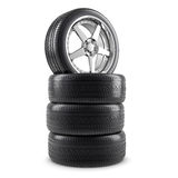 Wheels and tires Royalty Free Stock Photos