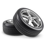 Wheels isolated Royalty Free Stock Photos