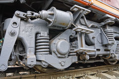 Wheels of the Train Stock Images