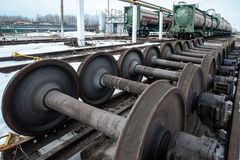 Wheels of train Royalty Free Stock Photos