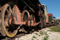 Wheels of a train Royalty Free Stock Photography