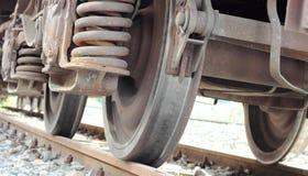 Wheels of train Stock Photo