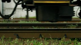 Wheels  of train. stock video