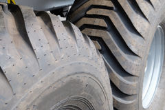 Wheels of the truck. Fragment of the wheels of the truck Royalty Free Stock Photography