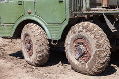 Wheels of a truck. Mud wheels of a truck Royalty Free Stock Photo