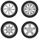 Wheels. Vector random cars wheels set Royalty Free Stock Image