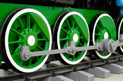Wheels of Vintage Steam Locomotive Royalty Free Stock Photography