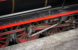 Wheels of a Vintage Steam Train Stock Image