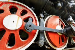 Wheels of vintage steam train Royalty Free Stock Photography