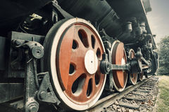 Wheels of vintage steam train Royalty Free Stock Photo