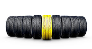 Wheels  on white Royalty Free Stock Image
