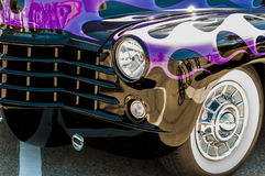 Wheels on Wyandoote purple classic car Royalty Free Stock Images