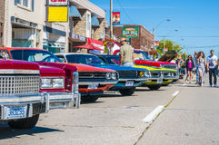 (wheels on wyandotte) Car show Royalty Free Stock Photo