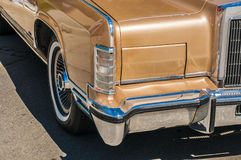 (wheels on wyandotte) Gold Classic cars Royalty Free Stock Image