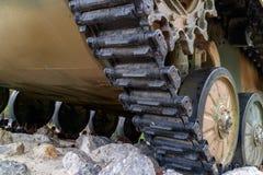 Wheelset dal veicolo da combattimento disperso nell'aria Fotografie Stock Libere da Diritti