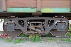 Wheelset eines Waggons Russland lizenzfreie stockfotografie